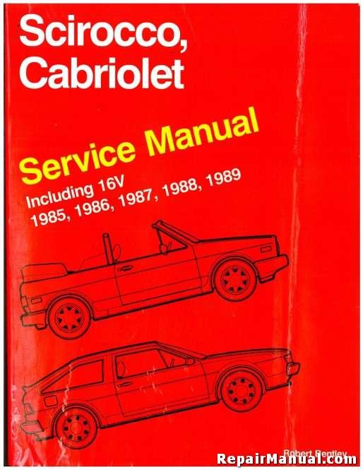 volkswagen cabriolet scirocco service manual