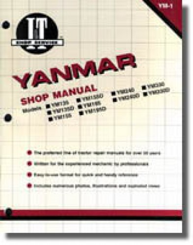 Yanmar YM135 YM135D YM155 YM155D YM195 YM195D YM240 YM240D YM330 YM330D Tractor Manual